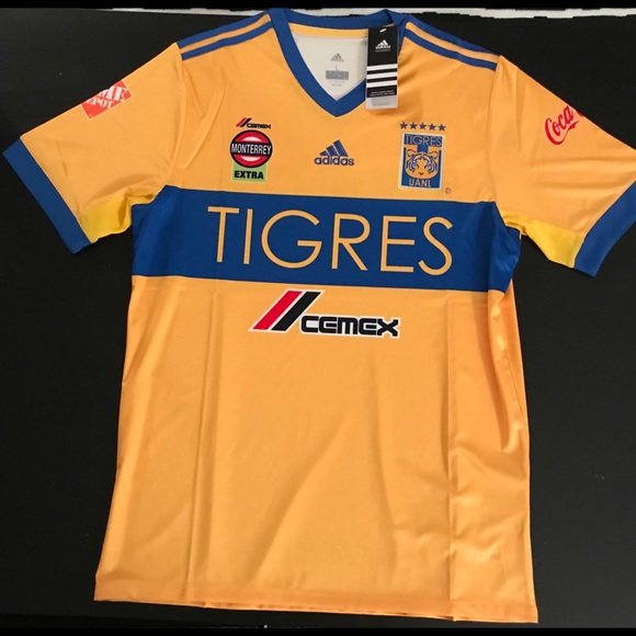 Club Futbol Tigres UANL Jersey LARGE 2018 50839805d